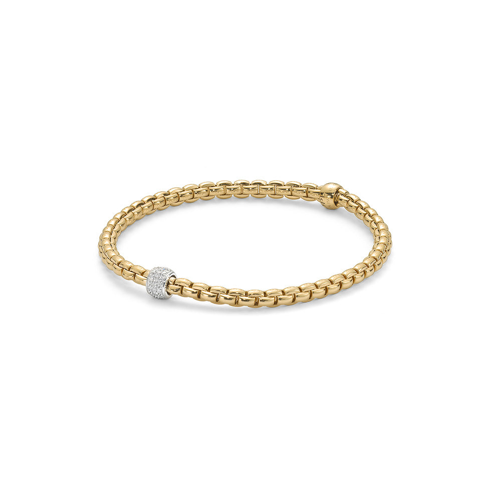 18k Yellow Gold Fope EKA Tiny Bracelet