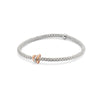 18k White Gold Fope Prima Bracelet with Diamond
