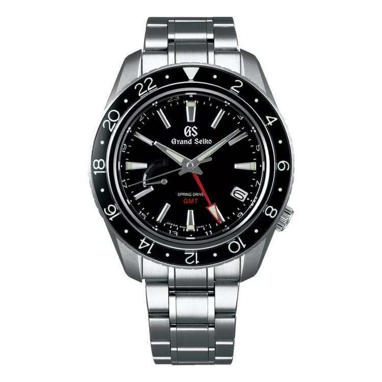 Grand Seiko Sport SBGE201 Black Dial GMT Steel Watch