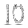 Dilamani Diamond Hoop Earrings in 14k White Gold