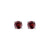 Round Garnet Stud Earrings set in 14k White Gold