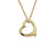14k Yellow Gold Floating Heart Pendant Necklace