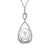 South Sea Pearl Diamond Pendant Necklace set in 14k White Gold