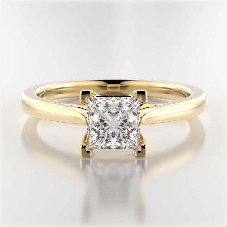 Yellow Gold Mackenzie Princess-Cut Diamond Solitaire Ring