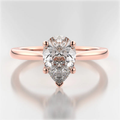 Rose Gold Mackenzie Pear-Shaped Diamond Solitaire Ring