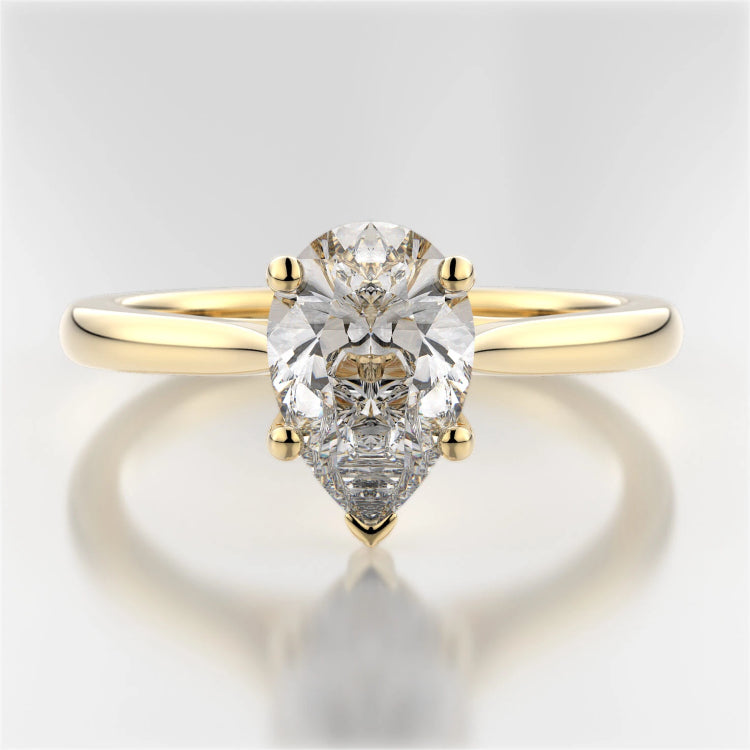 White Gold or Platinum Pear-Shaped Mackenzie Solitaire