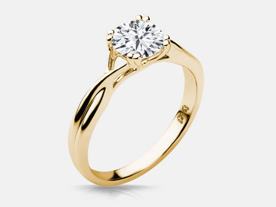 Yellow Gold Madison Engagement Solitaire - Naledi