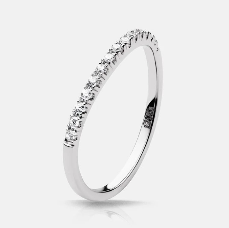 Charlize Diamond Contoured Wedding Band - Naledi