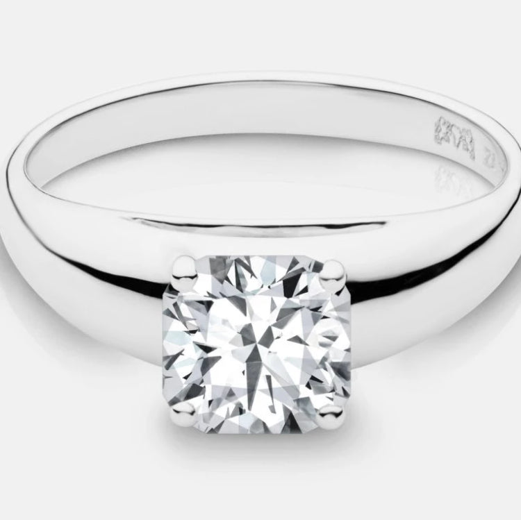 Cushion Cut Charlize Diamond Solitaire - Naledi