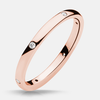 Claire Rose Gold Diamond Band - Naledi