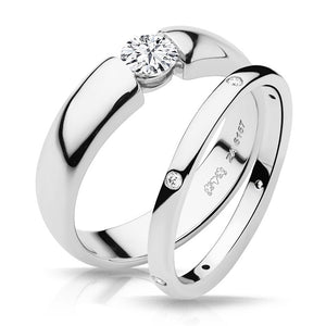 Claire Ring Design with matching Diamond Band - Naledi