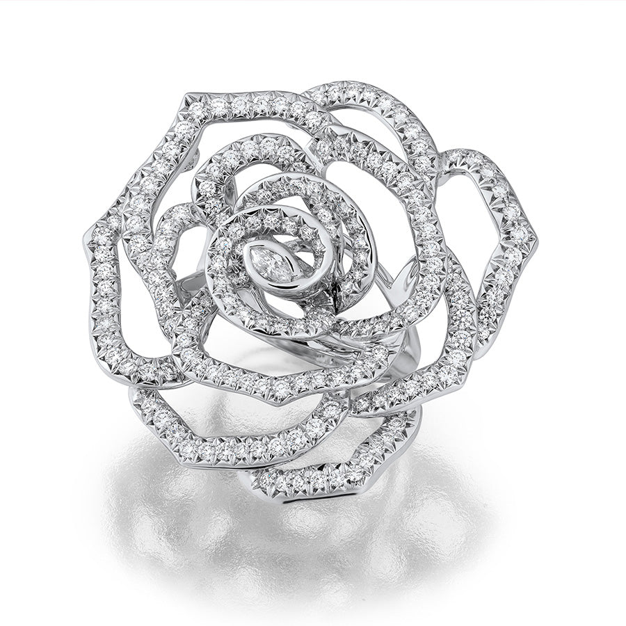 Rose Ring in Platinum