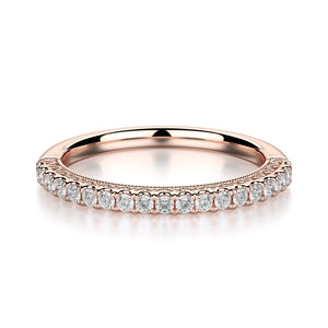 Alcyone Wedding Band - Rose Gold - Diamonds - Anniversary Band