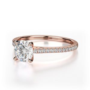Effie Engagement Ring Mounting - Rose Gold - Solitaire