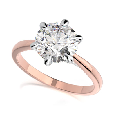 Vada Engagement Ring - Diamond Solitaire - Rose Gold
