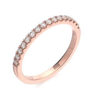 Tatiana Wedding Band - Diamond - Rose Gold - Anniversary Band