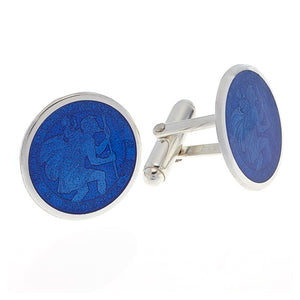 Sterling Silver St. Christopher Cufflinks