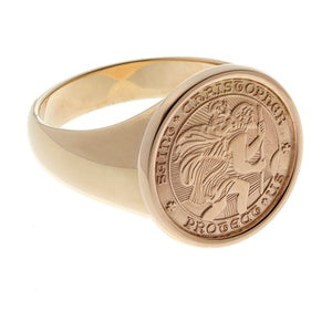 14k Gold St. Christopher Ring
