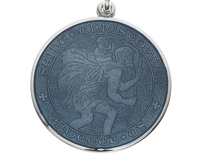 Grey Sterling Silver St. Christopher