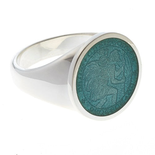 Sterling Silver St. Christopher Ring