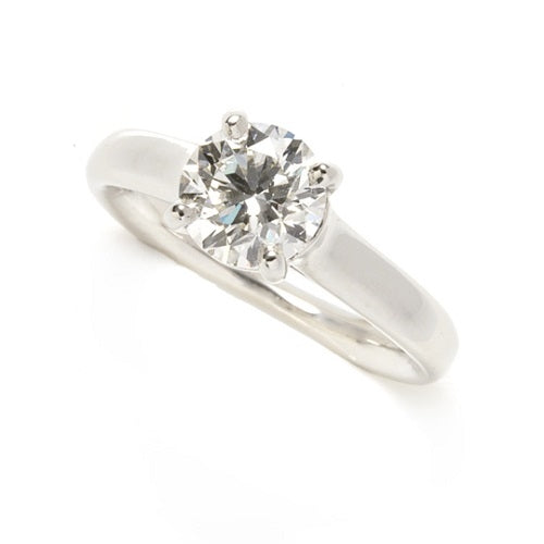 Solitaire Diamond Engagement Ring by Schwanke-Kasten Jewelers