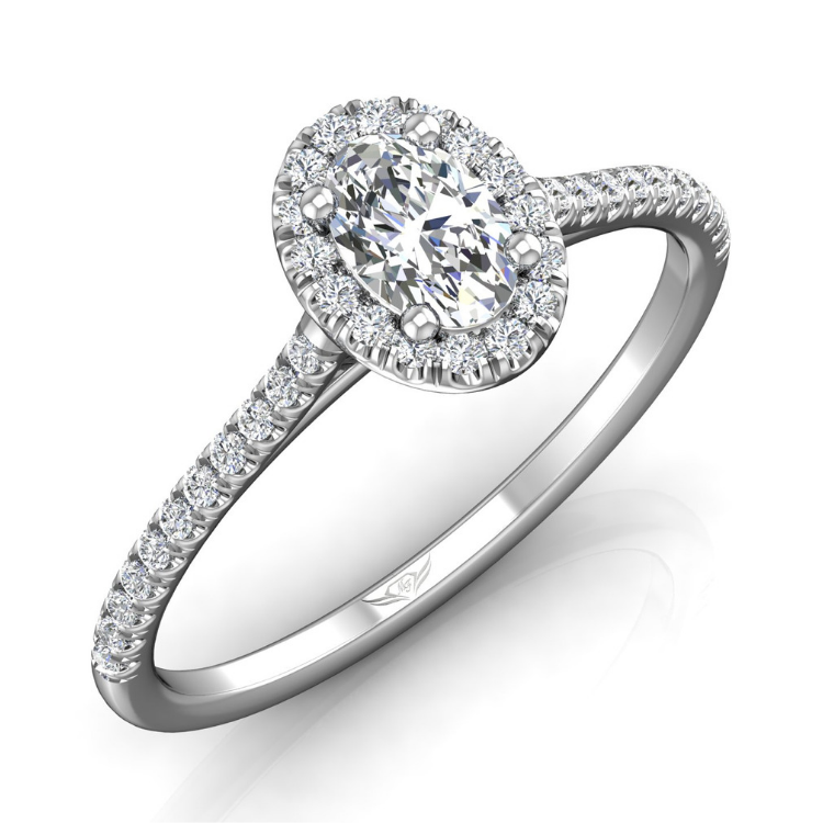 Flyer Fit Oval Cut Engagement Ring