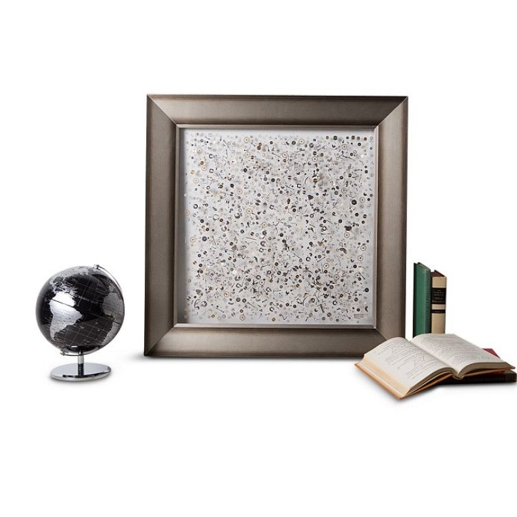 Berd Vaye Small Time Framed Art showcases vintage watch parts.