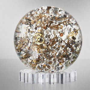 Large Horosphere is 9-1/2 inches around and weighs 21 lbs.