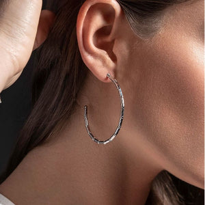 Reflection Hoop Earrings