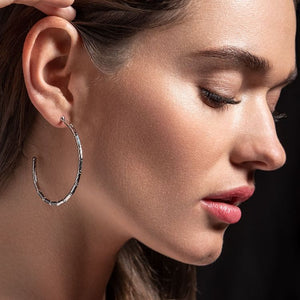 Reflection Hoop Earrings Headshot