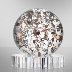 Small Horosphere by Berd Vaye is 6 inches around and weighs 6 lbs.