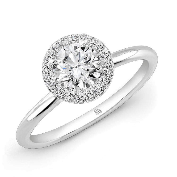Rahaminov Diamond Halo Engagement Ring