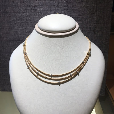 GOA 3 Strand Gold Necklace