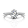 Flyer Fit Oval Cut Engagement Ring - Top View