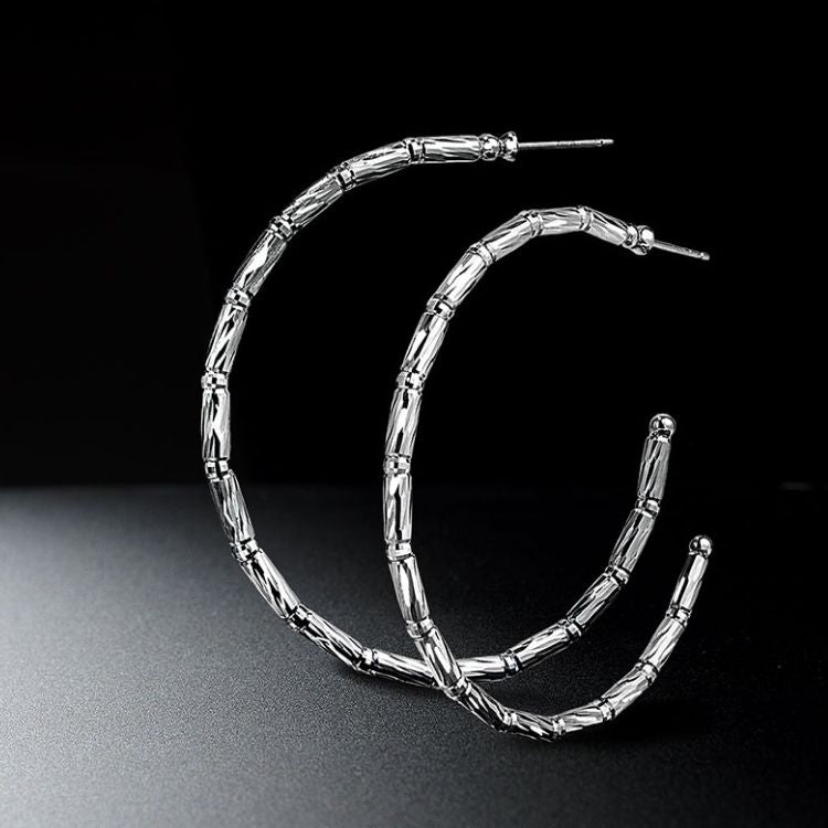 Reflection Hoop Earrings Close-up