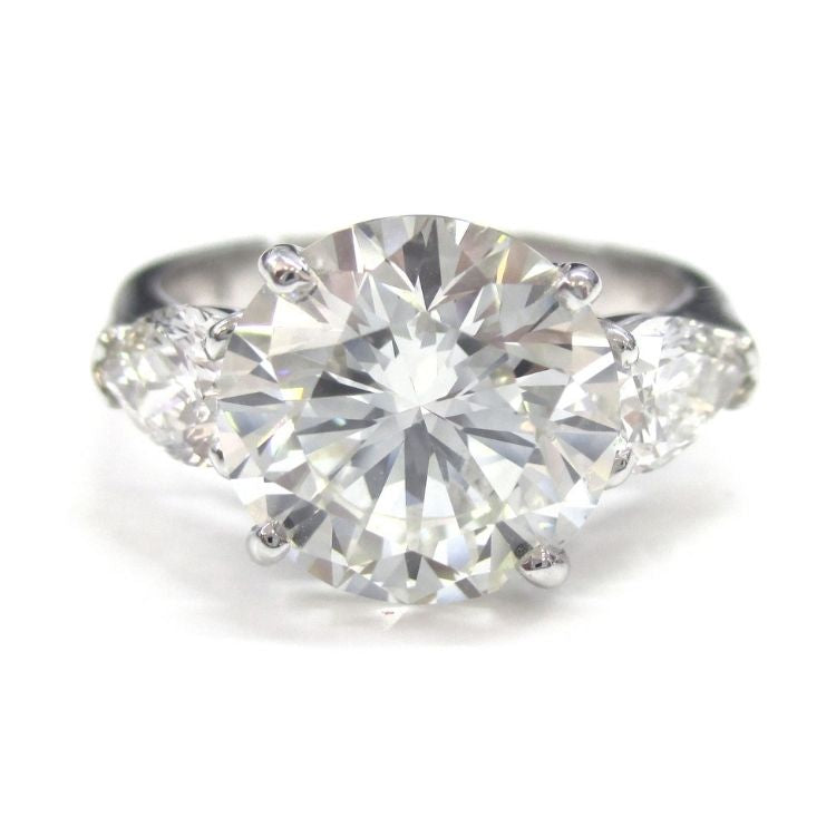 Round Brilliant Cut Three Stone Engagement Ring