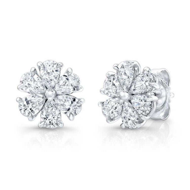 Diamond Flower Earrings by Rahaminov