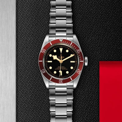 Tudor Black Bay 41mm Steel M79230R-0012 red bezel and black dial