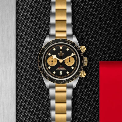 Tudor Black Bay Chrono S&G 41 M79363N-0001 black dial with gold subdials