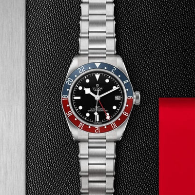 Tudor Black Bay GMT 41 Steel M79830RB-0001 black dial with red & blue bezel
