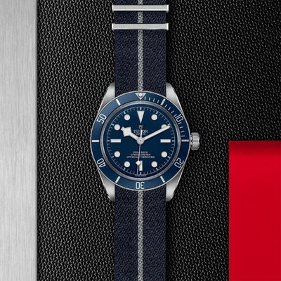 M79030B-0003 Black Bay Fifty-Eight 39mm Steel blue dial and bezel