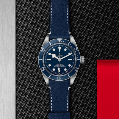 M79030B-0002 Black Bay Fifty-Eight 39mm Steel blue bezel and dial