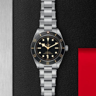 M79030N-0001 Black Bay Fifty-Eight 39mm Steel black dial and bezel