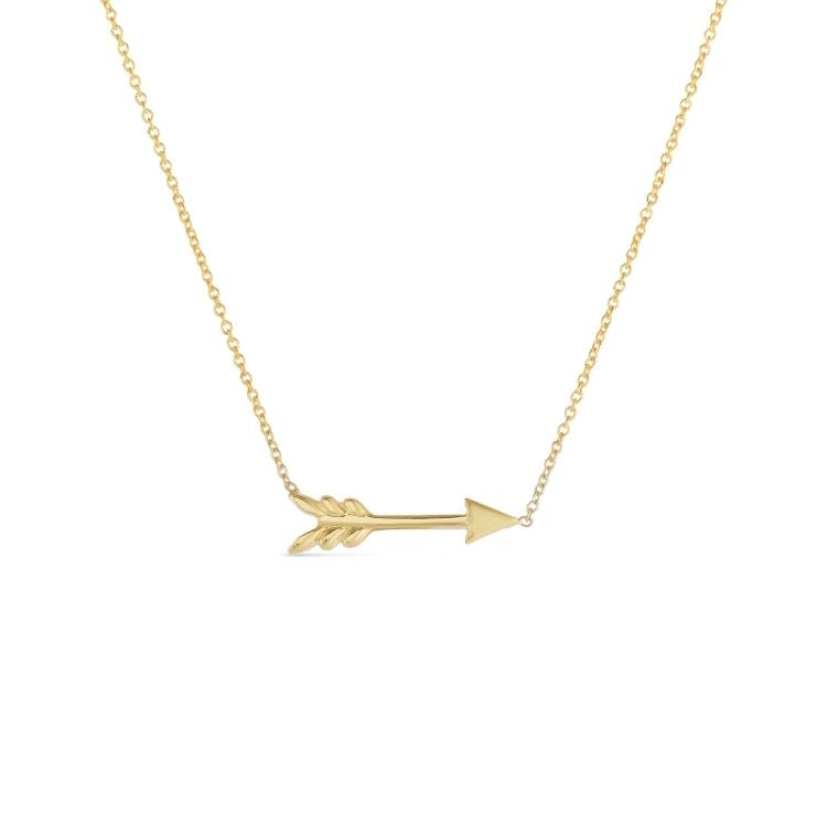 18k yellow gold arrow necklace