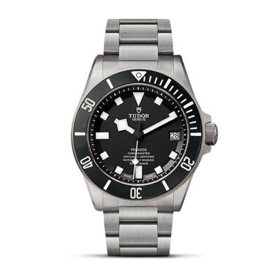 PELAGOS 42MM TITANIUM AND STEEL BLACK DIAL