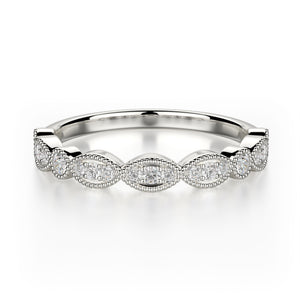 Juniper Wedding Band - Diamonds - Anniversary Band - White Gold