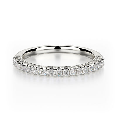 Alcyone Wedding Band - White Gold - Diamonds - Anniversary Band