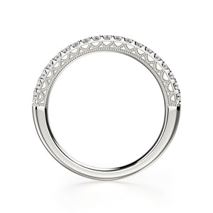 Alcyone Wedding Band - Platinum - Diamonds - Anniversary Band