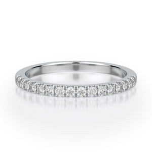 Tatiana Wedding Band - Diamond - White Gold - Anniversary Band