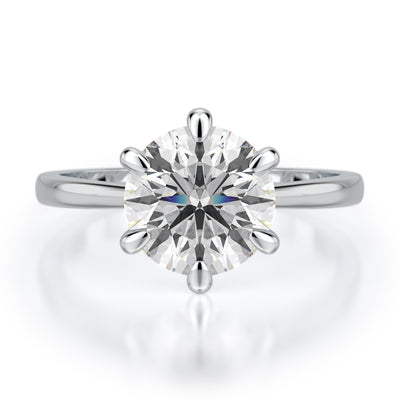 Vada Engagement Ring - Diamond Solitaire - White Gold